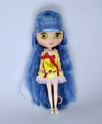 """Takara 12"""" Neo Blythe blue mix hair Nude doll  from Factory"""