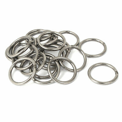 3mm x 30mm x 24mm Stainless Steel O Shaped Bucket Rings Welded O-rings 20PCS