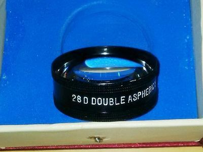 Super Quality 28D double aspheric lens $ Case Ophthalmology & Optometry
