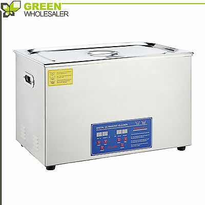 30L Liter Ultrasonic Cleaner Stainless Steel Cleaning Equipment w/ Heater Timer