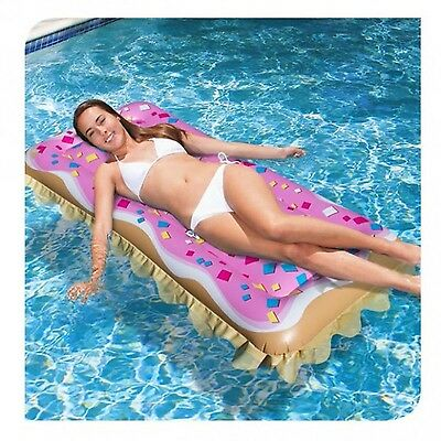 Banzai Toaster Treat Pool Lounger Float New Free Shipping
