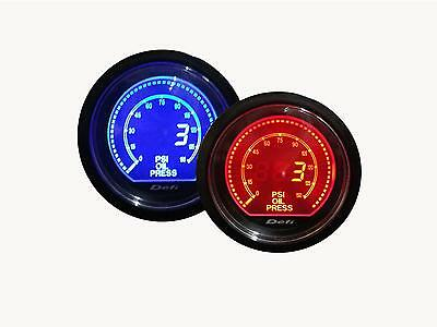 "Universal Oil Pressure Gauge inc. Pressure Sensors ( Blue & Amber Color, 2.5"")"