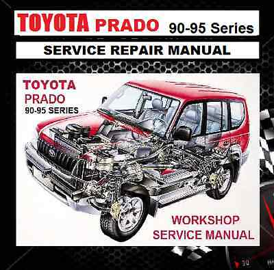TOYOTA PRADO 90-95 Series 1996-2002 KZJ-VZJ-RZJ-KDJ  WORKSHOP REPAIR MANUAL CD