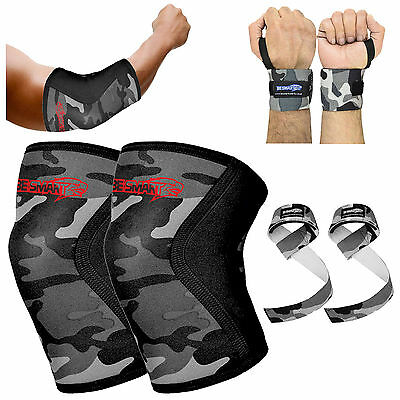 Lifters Knee Sleeves Elbow  Wrist Wraps Strap Crossfit/Powerlifting/Squatting