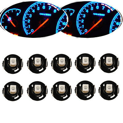 Lot10 Ice Blue T4 T4.2 Neo Wedge 1-SMD LED Cluster Instrument Dash Climate Bulbs