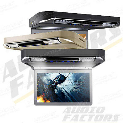 """XTRONS Car Roof Mount Overhead DVD Player Monitor 13.3"""" Wide Screen HDMI AUX USB"""