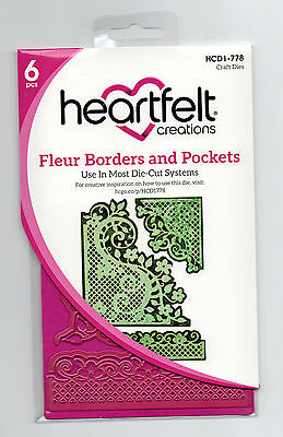 Heartfelt Creations Fleur Borders & Pockets Die for Cardmaking,Scrapbooking, etc