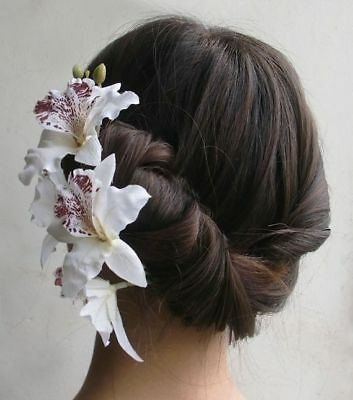 NEW Beautiful Orchid Spray Hair Clip, 9 Colours, UK Seller