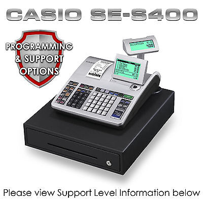 NEW CASIO SE-S400 CASH REGISTER Till + CHEAP PROGRAMMING & SUPPORT PACKAGES