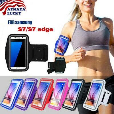 Samsung Galaxy S7/S7 Edge Sports Armband Gym Running Arm Band Case Holder Pouch