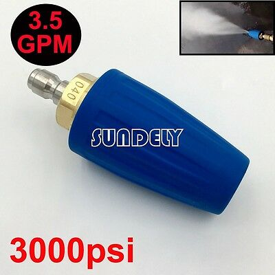 3.5 GPM Washer Turbo Head Nozzle for High Pressure Water Cleaner 3000PSI Blue
