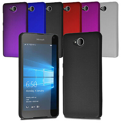 For Microsoft Lumia 650 Slim Armour Hard Case Clip On Back Cover & Screen Film