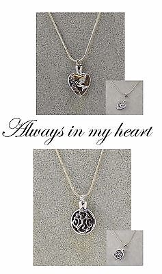 Memorial Necklace. Ashes keepsake. Loved one. Memory.