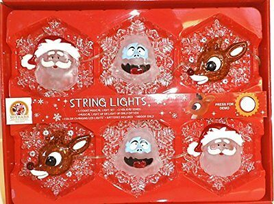 Rudolph Reindeer Color Changing Musical String Lights 50 Year Anniversary