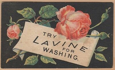 Victorian Trade Card-Lavine Washing Powder-Hartford, CT-Roses