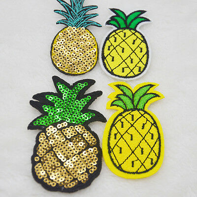 Pineapple embroidered iron on patch sewn For clothing applique stickers badges