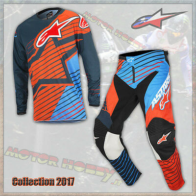 Completo Cross Enduro Alpinestars Racer Braap 2017 Petrol Aqua Orange L - 32