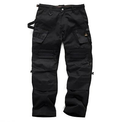 Scruffs Work Trousers Cargo 3D Trade Pro Floor Cordura Fabric Knee Pad Pockets