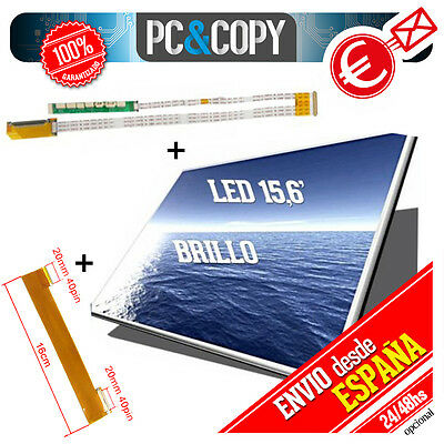 PANTALLA DISPLAY PORTATIL B156XW02 V0  15,6'' LED HD 1366x768 BRILLO 15.6 A+