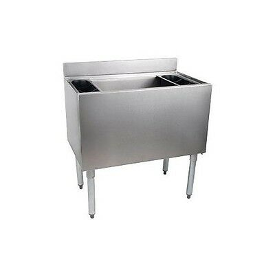 "Stainless Steel Under bar Ice Bin 24"" X 18"" W/ 12"" Depth NSF IB24-12D"