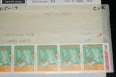 Liberia # 415-17 VFMNH Complete Space Communication Stamps