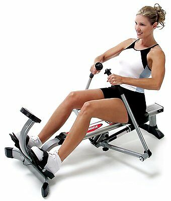 Rowing Machine Exercise Full body Workout Adjustable Resistance Foldable LCD New