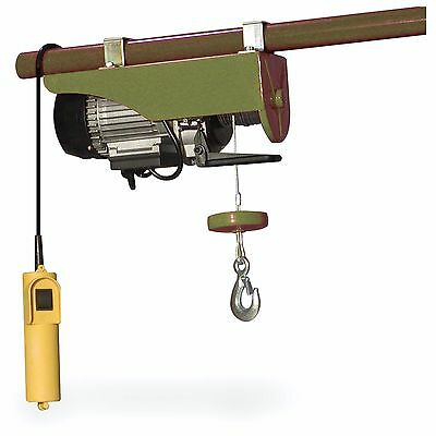 Electric 440-Pound Hoist Garage Mechanic Pulley Cable Lift Engine Automatic New