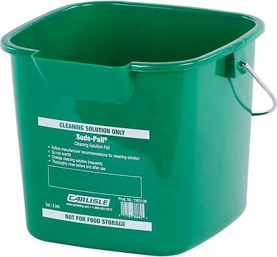 Carlisle 1183209 Square Suds Pail 6 quart Green Case of 12