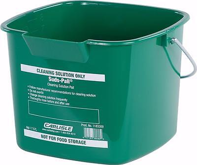 Carlisle 1183309 Square Suds Pail 8 quart Green Case of 12