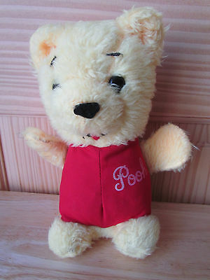 Walt Disney Productions Vintage Winnie The Pooh 10 Inch Plush Fuzzy Bear Euc!