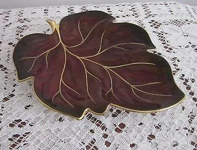 Vintage Carlton Ware Rouge Royale Leaf Shaped Dish