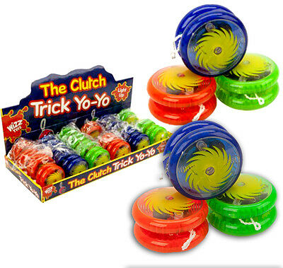 "LIGHT UP CLUTCH TRICKS YOYO 2"" COLOURED KIDS TOY Kids/Children Party Bag Fillers"