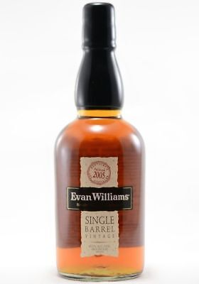 Evan Williams Single Barrel Bourbon Whiskey 2003 750ml