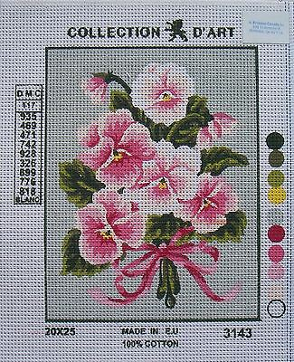 Collection d'Art Needlepoint Canvas - Flowers and Pansies- Select from 13 models