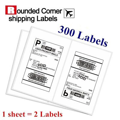 Premium 300 Half-Sheet 8.5 x 5.5 Shipping Labels Self Adhesive For USPS eBay UPS