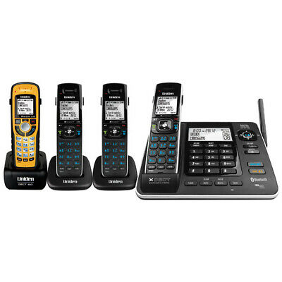 Uniden XDECT 8355+3WPR Cordless Phone Quad Package with AUST UNIDEN WARRANTY