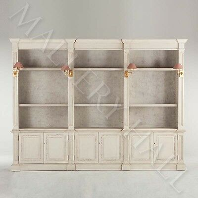French Colonial Painted Large Bookcase