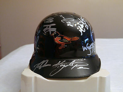 Bowie Baysox 2005 Autographed Baltimore Orioles Riddell Mini Helmet