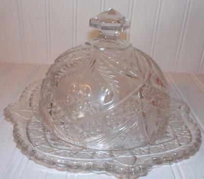 EAPG Indiana Glass Gaelic #168 Covered Butter Dish