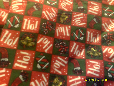 52x22 Standard Flannel  Daycare cot sheets Ho! Ho! Print (6 sheets)