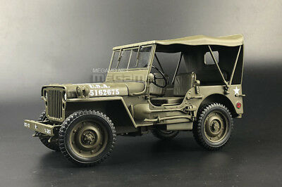 Welly 1:18 JEEP WILLYS U.S ARMY with SOFT TOP DIECAST MODEL GREEN 18055 H-W
