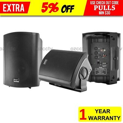 Wintal 6.5 Inch Active Powered Indoor Outdoor Speaker 35W Rms Wall Bracket 2X