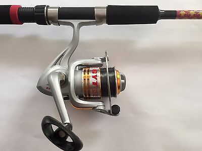 Fishing Rod Reel Combo 6' Rod 3000 Size Reel with Line & Bonus Fillet Knife new