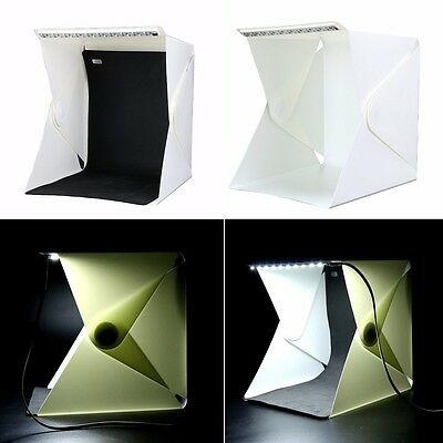 YaeKoo Folding Portable Photo Studio Soft Box+Led Light+Background Backdrops Kit