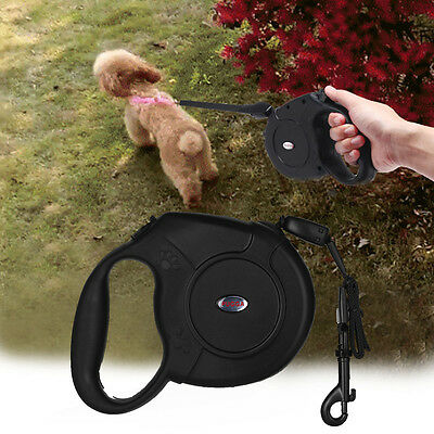 Max 50kg 8m Hold Long Extendable Tape Retractable Dog Pet Training Lead Leash UK