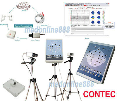 Digital Brain Electric Activity Mapping EEG machine System + Tripods 16 Channel