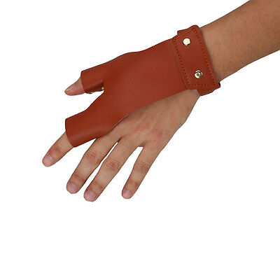Archery Guard Target Bow Leather Hand Protector Glove For Shooting Hunting A+