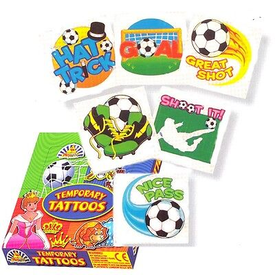 6 Football Tattoos / Transfers Boys Party Loot Bag Fillers / Favours