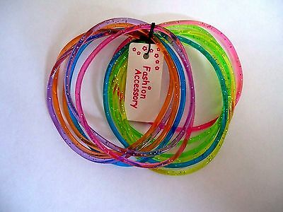 12 Pack Glitter Gummy Gummies Jelly Bracelets Wristbands Party Bag Fillers