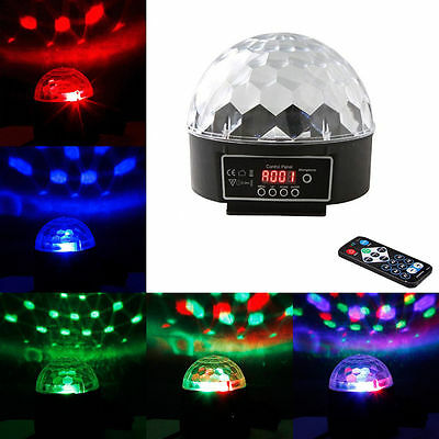 RGB Disco DJ Stage Light Home Club Party DMX512 LED Crystal Ball Effect Lighting